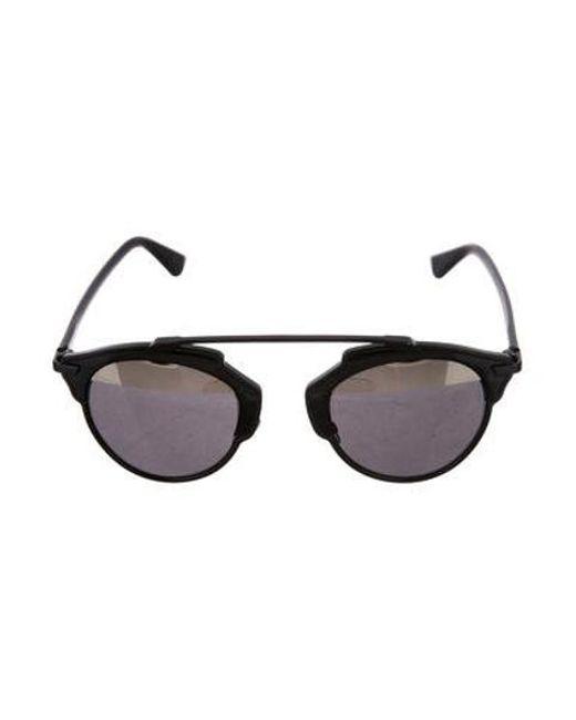 3f8bab72a82 Dior - Metallic Diorsoreal Tinted Sunglasses Black - Lyst ...