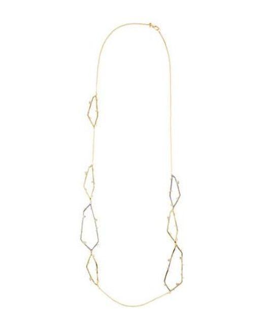 Alexis Bittar - Metallic Satellite Crystal Link Station Necklace Gold - Lyst