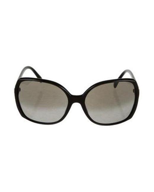 a7591fb0b33 Chanel - Black Oversize Cc Sunglasses - Lyst ...