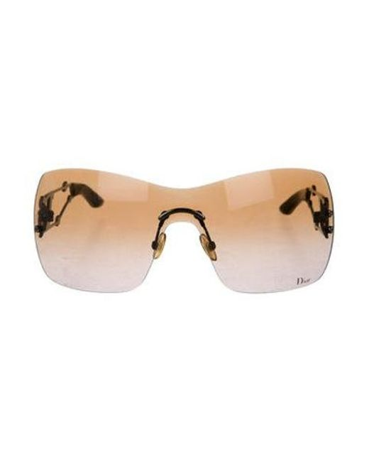 291a4717414e Dior - Brown Rimless Gradient Sunglasses - Lyst ...