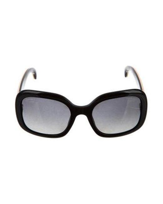2183c03560f Chanel - Metallic Stingray Cc Sunglasses Black - Lyst ...
