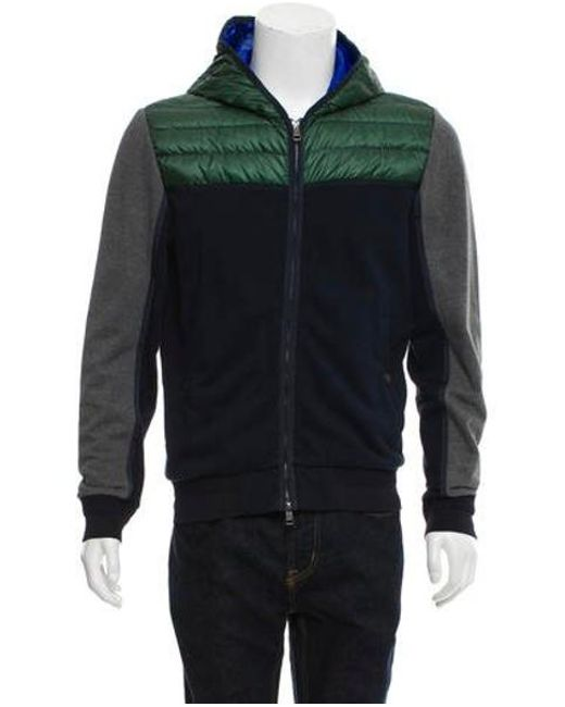 39187e34d5fb Lyst - Moncler Maglia Jacket Green in Gray for Men