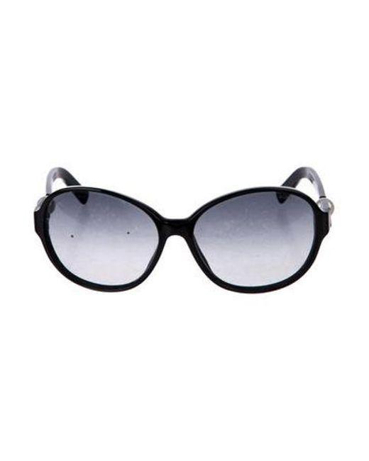 447de4e1691 Chanel - Black Perle Gradient Sunglasses - Lyst ...