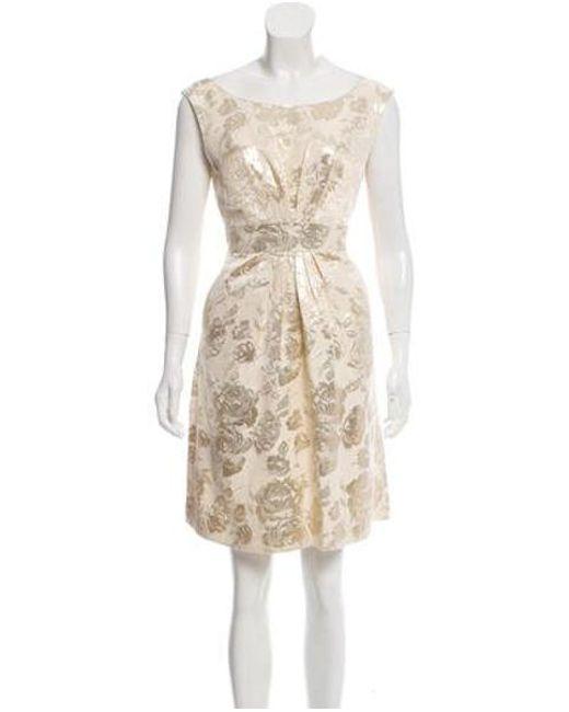 4a2ebc5bd8e Kate Spade - Metallic Deanna Brocade Dress W  Tags Gold - Lyst ...