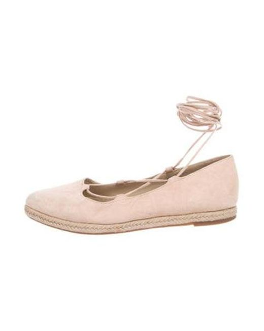 90ea3194ab4 Michael Kors - Pink Wrap-around Suede Espadrilles - Lyst ...