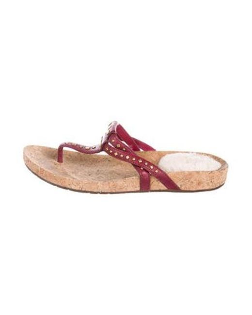 872ed7c7ed3177 Ugg - Pink Studded Thong Sandals Fuchsia - Lyst ...