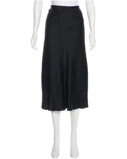 Jason Wu - Black Silk Midi Skirt - Lyst