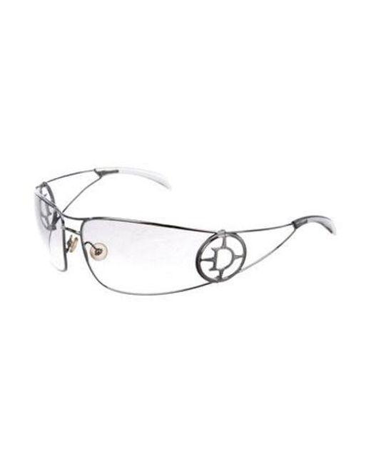 b98320cd0116 ... Dior - Metallic Gradient Shield Sunglasses Silver - Lyst ...