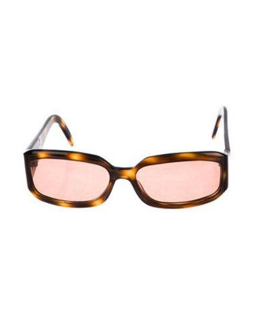 595755b74ed Chanel - Natural Tortoiseshell Cc Sunglasses Brown - Lyst ...