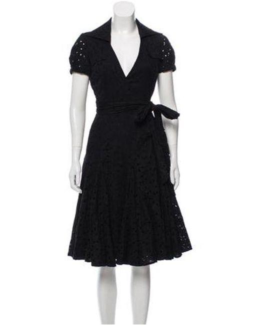 acdc81c0c6 Diane von Furstenberg - Black Taffy Midi Dress - Lyst ...
