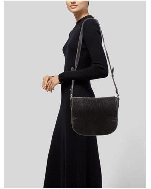 809313cfd ... Alexander Wang - Metallic Lia Messenger Bag Black - Lyst ...