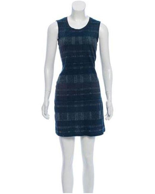 Theyskens' Theory - Blue Sleeveless Mini Dress - Lyst