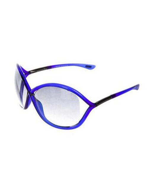 7865598fe354 ... Tom Ford - Metallic Whitney Gradient Sunglasses Blue - Lyst ...