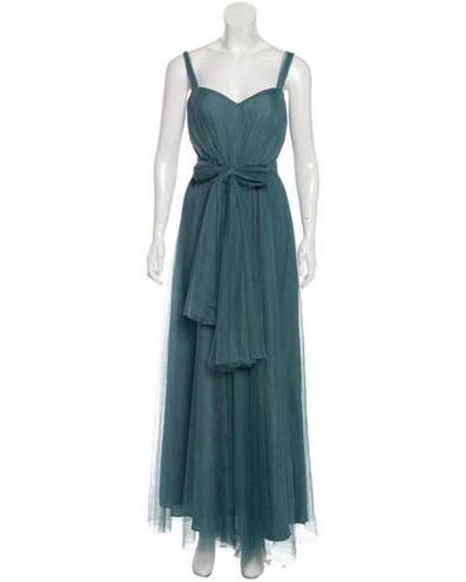 Monique Lhuillier Bridesmaids - Multicolor Draped Tulle Gown - Lyst