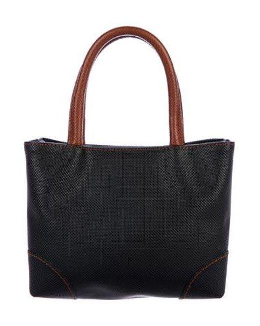 b7d1c72fe5 Bottega Veneta - Metallic Vintage Marco Polo Handle Bag Black - Lyst ...
