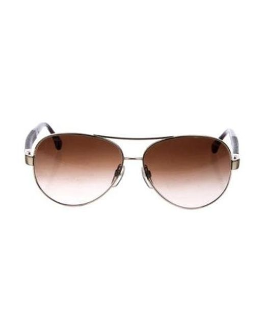24e11f601db Chanel - Metallic Quilted Pilot Sunglasses Brown - Lyst ...