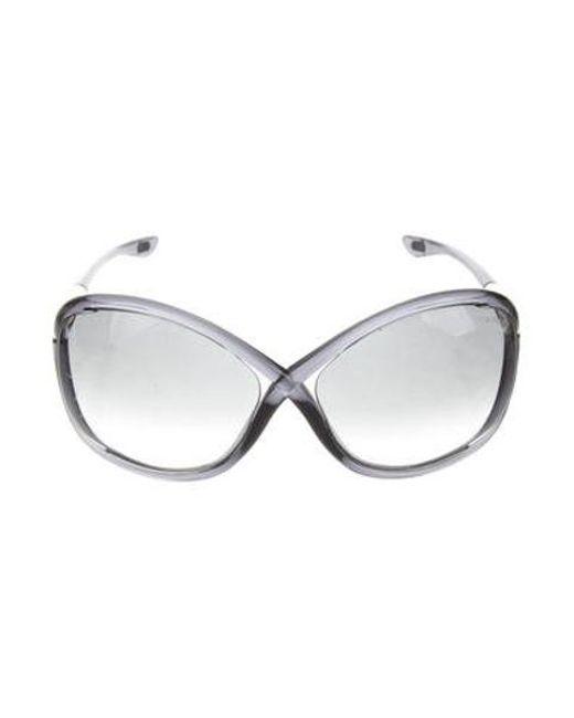 3be686e9b15cc Tom Ford - Metallic Whitney Gradient Sunglasses Gold - Lyst ...
