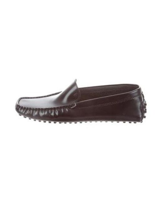 d303e8f4265 Tod s - Black Leather Driving Loafers - Lyst ...