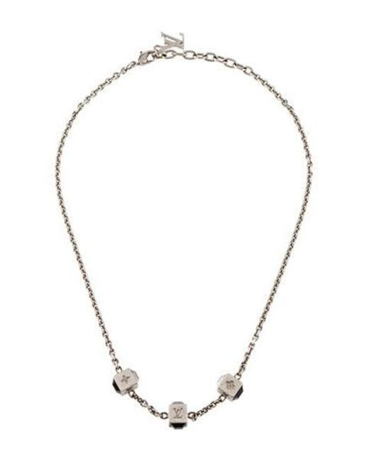 403bd1761fe5 Louis Vuitton - Metallic Crystal Gamble Station Necklace Silver - Lyst ...
