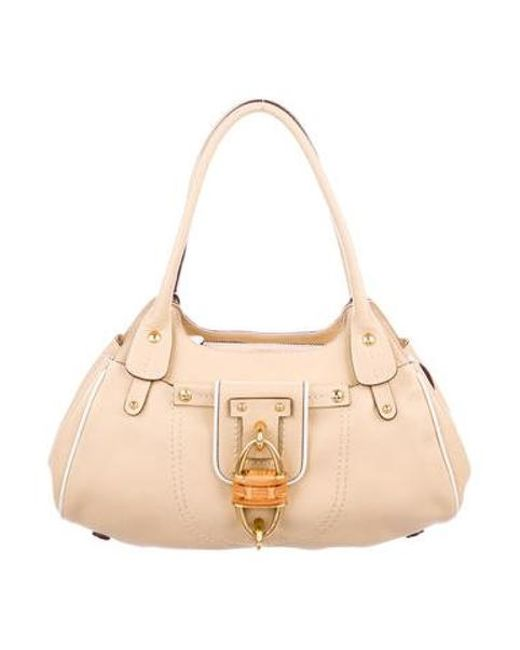 e5e0deba1a42 Ferragamo - Metallic Lock Shoulder Bag Beige - Lyst ...