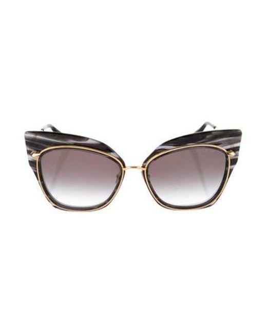 361e4678ee0d Dita - Metallic Stormy Cat-eye Sunglasses Black - Lyst ...