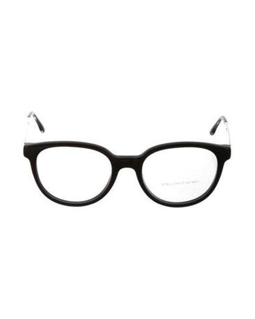 8d6e065d30 Stella McCartney - Metallic Square Frame Eyeglasses Black - Lyst ...