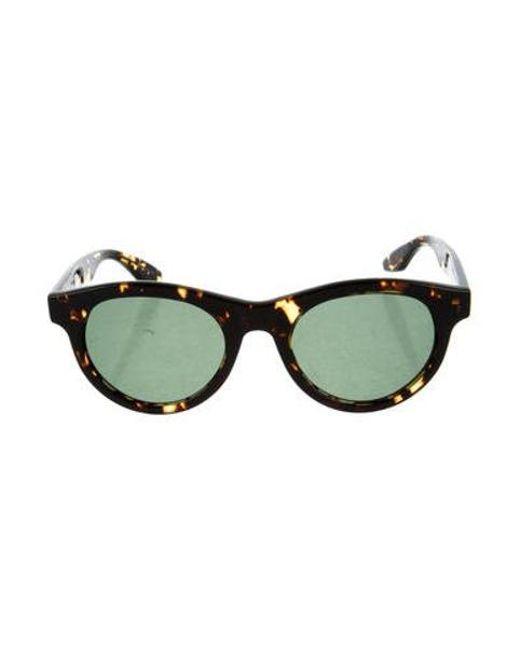 cb8b27a229 Barton Perreira - Brown Dunaway Round Sunglasses - Lyst ...