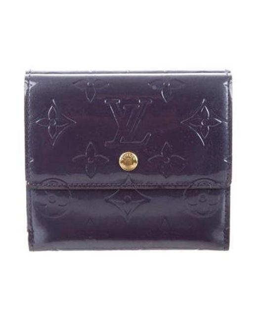 07429680f298 Louis Vuitton - Purple Vernis Elise Wallet Indigo - Lyst ...