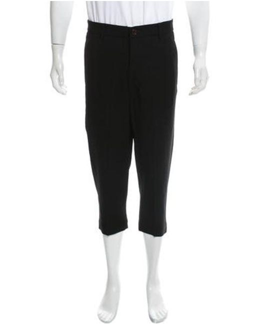 Lyst Rick Owens Cropped Dress Pants In Black For Men