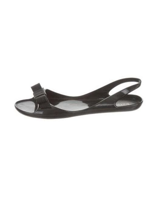 b0b180bb7441 Kate Spade - Black Jelly Slingback Sandals - Lyst ...