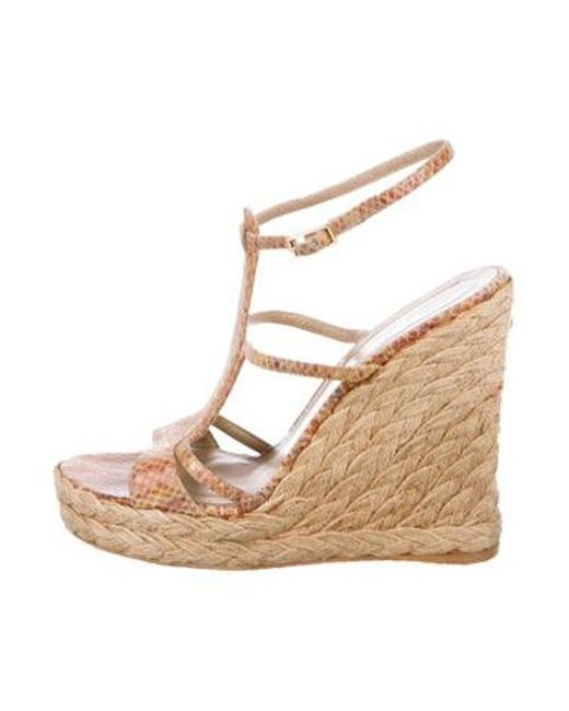 45320fae7414 Stuart Weitzman - Natural Leather Espadrille Sandals Beige - Lyst ...