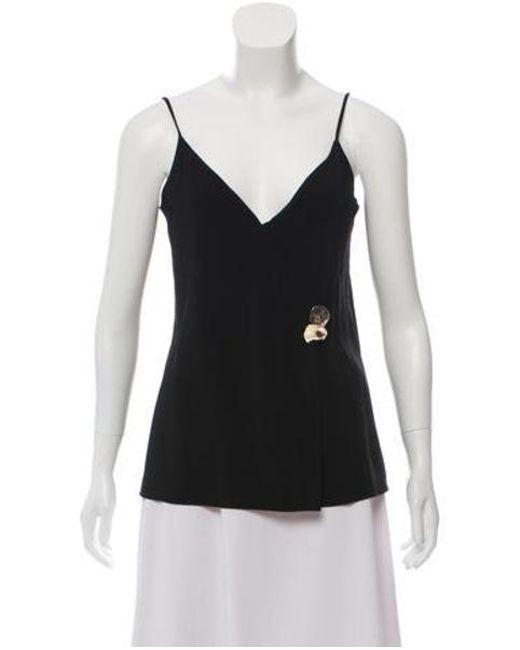 d9b4a932ce6d98 Cushnie et Ochs - Black Embellished Sleeveless Top - Lyst ...