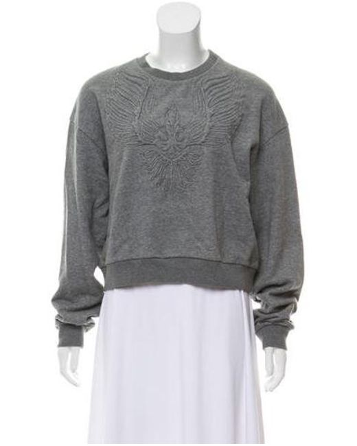 3.1 Phillip Lim - Gray Embossed Drop-shoulder Sweatshirt Grey - Lyst
