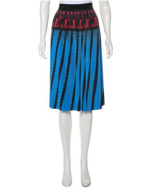 8724c72991d11f Alexander Wang - Blue Pleated Printed Skirt Aqua - Lyst ...