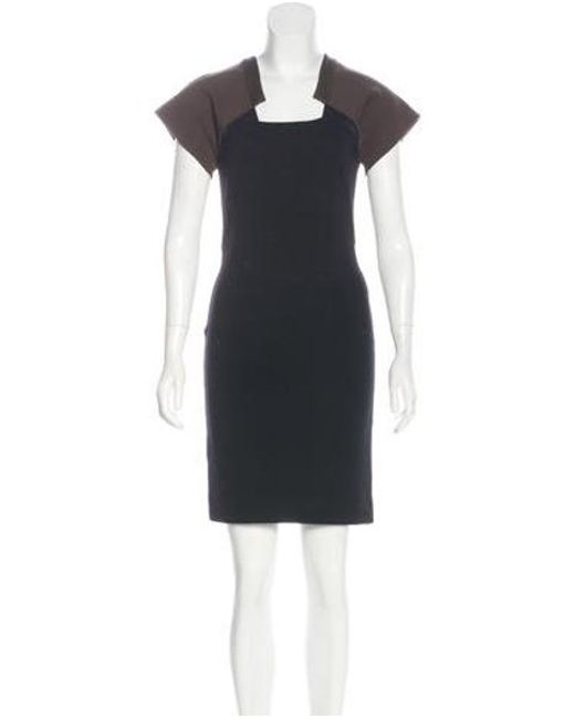 Givenchy - Black Wool Knee-length Dress - Lyst