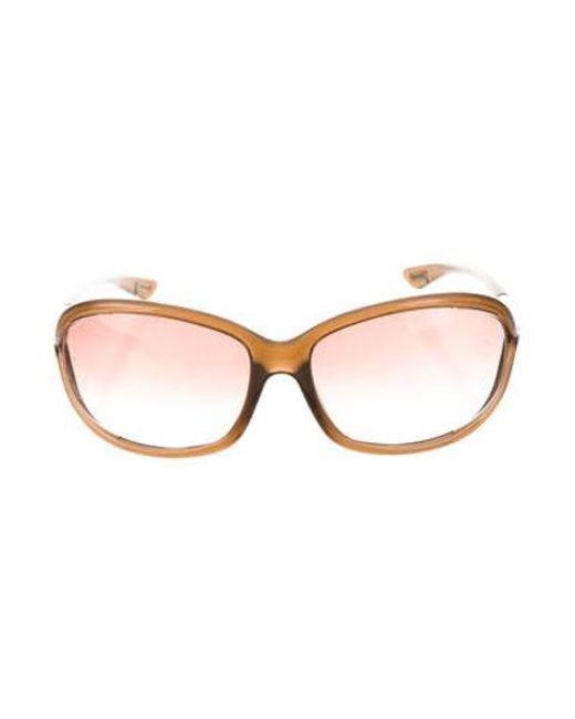 66068836facd Tom Ford - Metallic Jennifer Tinted Sunglasses Brown - Lyst ...