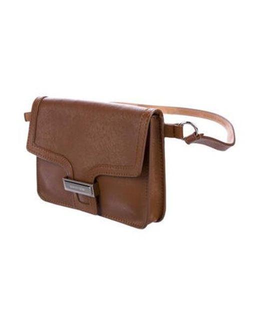 c606883368cf ... Michael Kors - Metallic Leather Waist Bag Cognac - Lyst ...