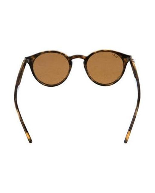 ff84e94301 ... Ray-Ban - Brown Round Tinted Sunglasses - Lyst