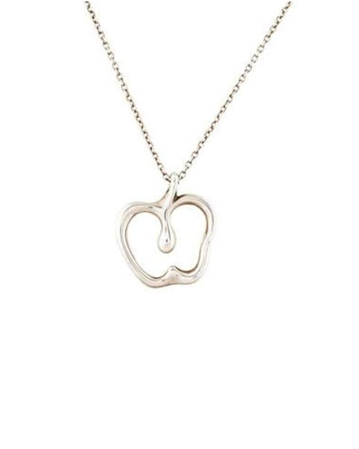 Lyst tiffany co apple pendant necklace silver in metallic tiffany co metallic apple pendant necklace silver aloadofball Gallery