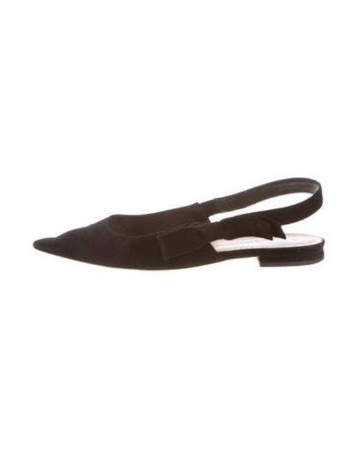 db351fb19d9 Dior - Black Suede Pointed-toe Flats - Lyst ...