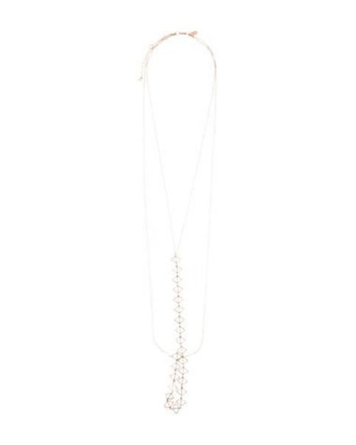 Arme De L'Amour - Metallic Merged Triangle Body Chain Rose - Lyst