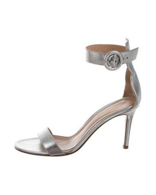 3ef0fb1abbb Gianvito Rossi - Metallic Portofino 85 Sandals Silver - Lyst ...