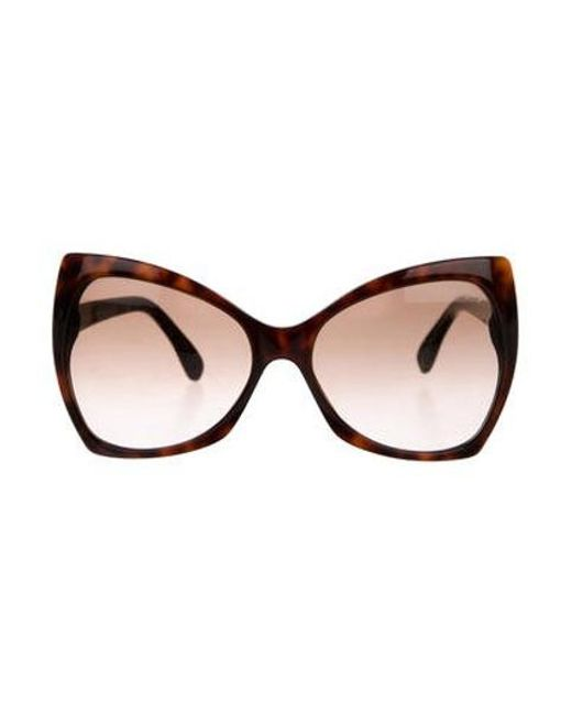 18153420b7 Tom Ford - Metallic Nico Butterfly Sunglasses Brown - Lyst ...