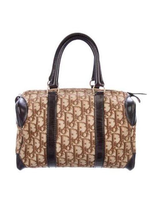 aa5a3481fab9 Dior - Metallic Vintage Diorissimo Handle Bag Brown - Lyst ...
