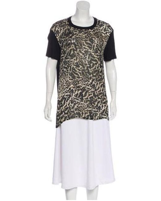 dc9398b2df Giambattista Valli - Black Printed Short Sleeve Top - Lyst ...