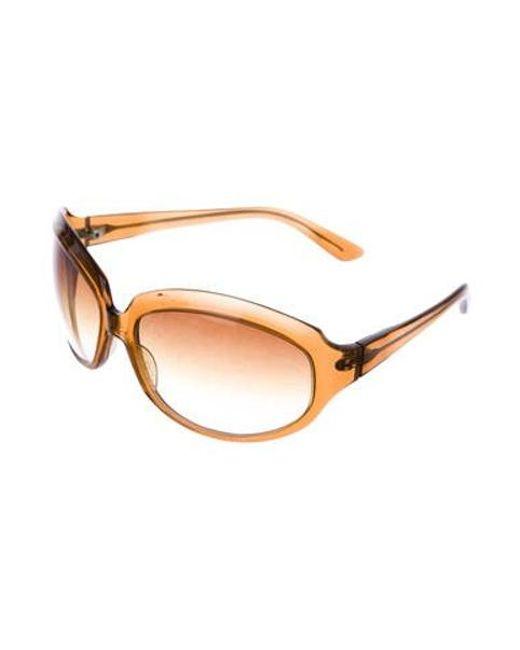 92b303340f8f ... Oliver Peoples - Brown La Donna Oversize Sunglasses - Lyst ...