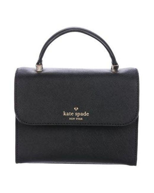15767a32b849 Kate Spade - Metallic Cedar Street Mini Nora Satchel Black - Lyst ...