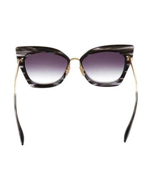 a883304e793 ... Dita - Metallic Stormy Cat-eye Sunglasses Black - Lyst ...