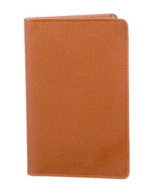 5e56dabac08 Louis Vuitton - Brown Taiga Card Case for Men - Lyst ...