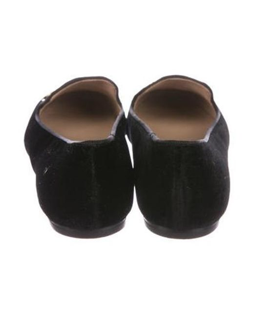 a8c54f2feb8 ... Tory Burch - Black Peace Smoking Loafers - Lyst